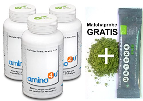 Amino4u 3x 120 Presslinge + Matchaprobe Gratis