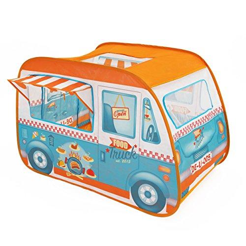 Pop It Up F2PT15815 Foodtruck Zelt/Spielhaus – LKW Food Truck, Orange
