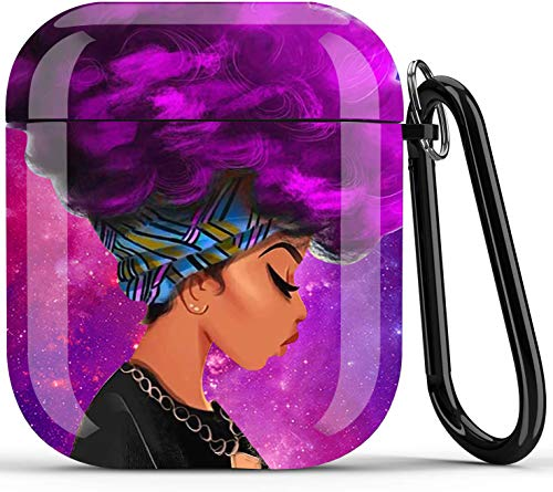 Black Girl Airpods Case - Icepos African American Airpod Skin Protective Hard Case Cover Portable &...