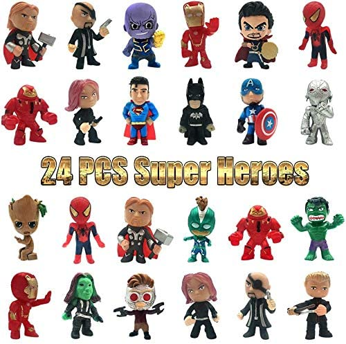 Superhero Action Figures Set of 24 Mini Action Figures Super Hero Adventures Mini PVC Web Warriors product image