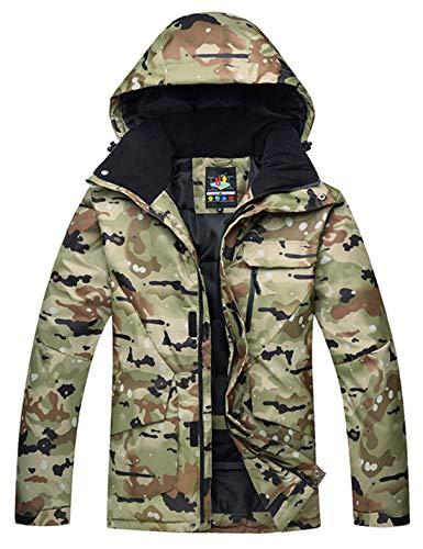 APTRO Skijacke Herren warm Jacke gefüttert Winter Jacke Regenjacke Camoflage, Grün-camoflage, M