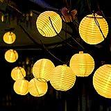 Luci Solari da Esterno, Catena Luminosa Solare con 30 Lanterne, Impermeabile Catena Luci Decorative Perfetto per Festa-Giardino-Casa, Decorazioni, Feste, Matrimonio