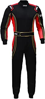 jxhracing RB-CR014 One Piece Auto Go Karts Racing Suit Red X Large
