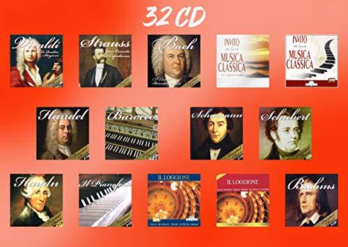 32 CD Musica Classica Collection - Vivaldi, Strauss, Bach, Brahms, Handel, Schumann, Schubert, Haydn, Pianoforte, Barocco,Opera