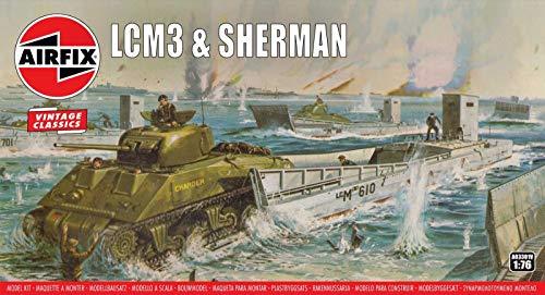 エアフィックス 1/76 アメリカ軍 LCM3&シャーマン戦車 プラモデル X-3301V