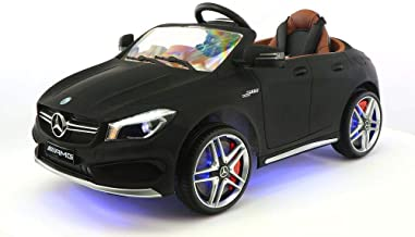 2018 12V Mercedes CLA45 Electric Powered Battery Operated LED Wheels Kids Ride on Toy Car with Parental Remote Control (Matte Black)