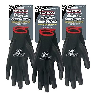 Finish Line Mechanic Grip Gloves (3 Pack), Large