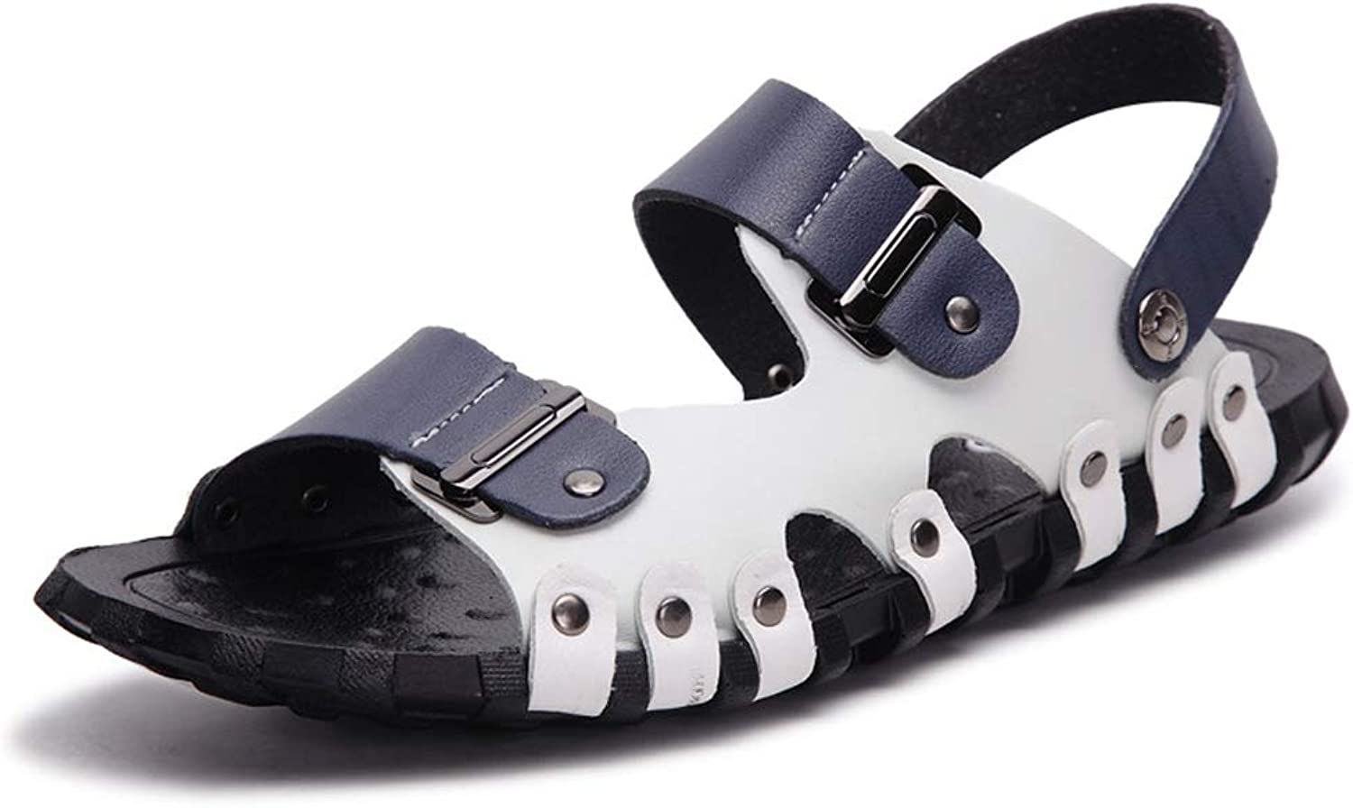 Summer Leather Sandals Men's Beach shoes Korean Casual Sandals and Slippers