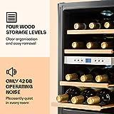 Klarstein Reserva - Getränkekühlschrank, Weinkühlschrank, 34 L, 12 Flaschen, 4 Regaleinschübe, leise, 2 Zonen, 7-18°C Temperaturbereich, LED-Innenbeleuchtung, schwarz-silber - 5