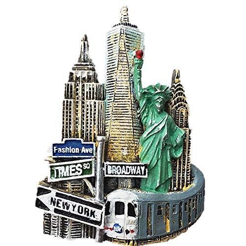 3D New York USA Kühlschrankmagnet Souvenir, Heim & Küche Dekoration New York USA Kühlschrankmagnet Reise Souvenir Geschenk