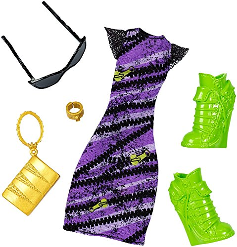 Monster High - DNX61 - Clawdeen Wolf Spooky Sweet Komplett-Look - Deluxe Puppe Kleidung Kostüm Fashion Pack