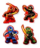 Ninjago Sticker Aufkleber Kai, Jay, Cole und Lloyd