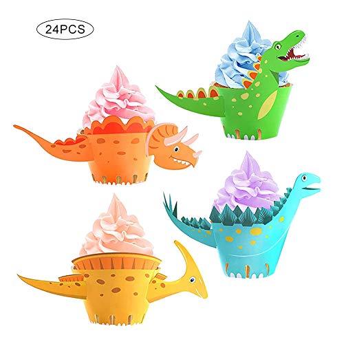 Juan Wen - 24 figuras de dinosaurio para magdalenas, diseño de dinosaurio