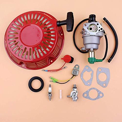 HaoYueDa Kit de Sello de Aceite de Llave de Purga de Alerta de Aceite de carburador de Arranque de Retroceso Apto para generador de Motor de Gasolina de 4 Tiempos Honda GX340 GX390 188F 11HP 13HP