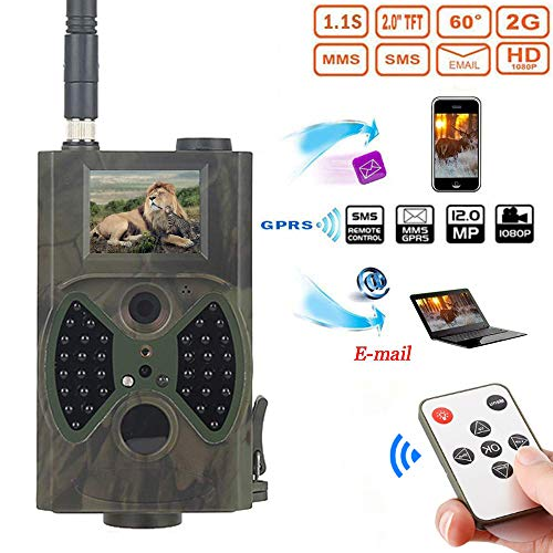 Family Homes 2G MMS GPRS SMS Wildkamera Jagd Kamera 16MP HD Digitalkamera 940nm IR 30 LEDs, 2.0 Bildschirm,1s Auslösezeit,Infrarote 20m, IP54 Wasserdicht;