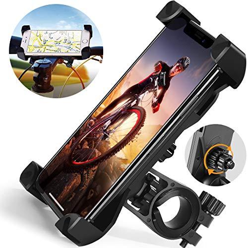 OME Supporto Smartphone per bici MTB, Porta cellulare moto e scooter rotabile a 360° con attacco universale manubrio, compatibile con tutti i Samsung e iPhone da 4 a 7 pollici.