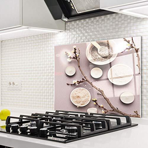 Horno para la cocina protector contra salpicaduras resistente al calor decoración guardia trasera proteger proteccion mural panel rasguño resistir Talla: 60x52cm-No:260