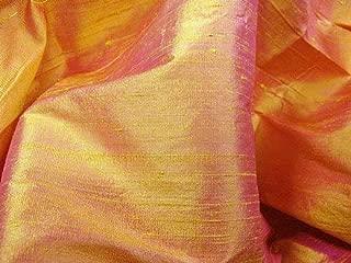 Best orange raw silk fabric Reviews