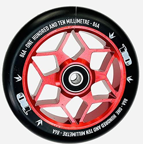 Blunt Stunt-Scooter Abec9 Wheel - Patinete infantil (110 mm, incluye pegatina Fantic26), color rojo y negro