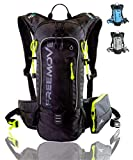 Hiking Daypack Backpack With Detachable Phone Pocket, 10L Capacity, Many Compartments, Durable - Ideal as Hydration Backpack for Hiking, Running, MTB Cycling - BLADDER NOT INCLUDED