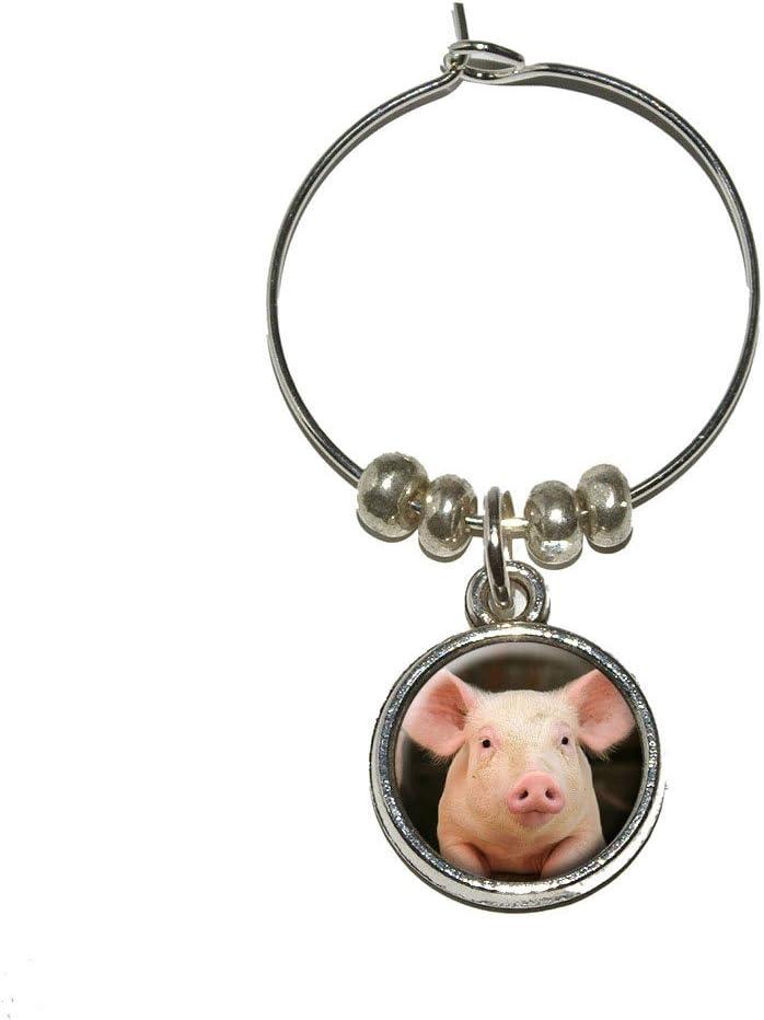 Little Pig Piggy Wine Glass Marker Stem Ring Drink Oklahoma City Mall Charm Seasonal Wrap Introduction