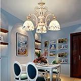 Iluminación Tiffany, lámpara de techo de estilo Tiffany plafón, plafón de 3 luces con pantalla de cristal, decoración interior para salón, comedor (color: 3 luces)
