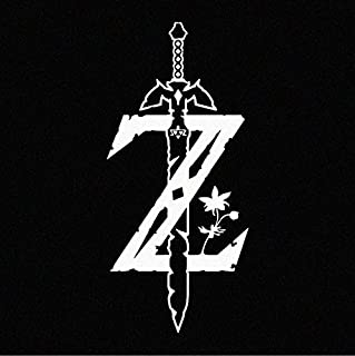 Legend of Zelda Breath of the Wild Logo WHITE Decal Sticker (cars, laptops, windows)