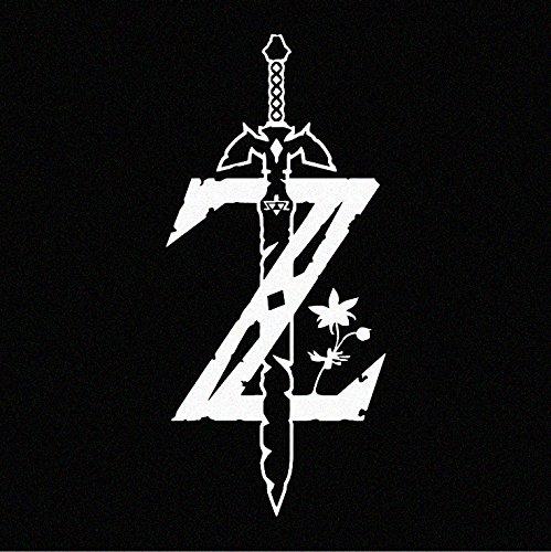 Legend of Zelda Breath of the Wild Logo WHITE Decal Sticker (cars, laptops, windows)