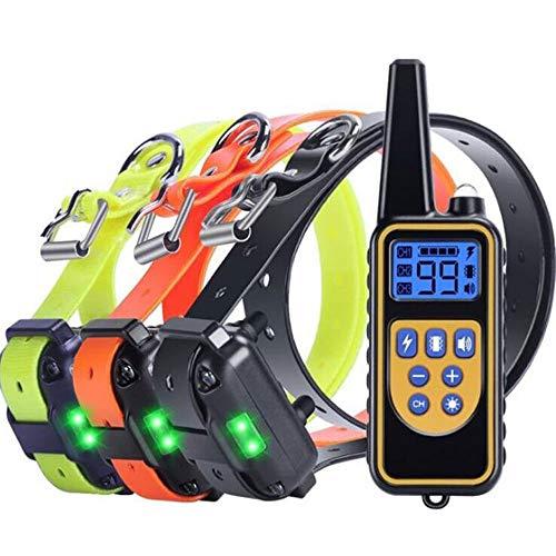YODZKJ Collar de Entrenamiento para Perros de 800 m, Control Remoto para Mascotas, Impermeable, Recargable con Pantalla LCD para Perros de Todos los tamaños