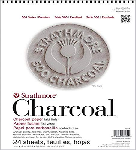 "Strathmore 561-2 12 X 18 ASST Tint 500 Series Charcoal, 12""x18"", 24 Sheets"