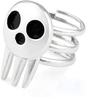 Rulercosplay Soul Eater the Ring of Death the Kid Cosplay Skull Ring - 2 Pieces