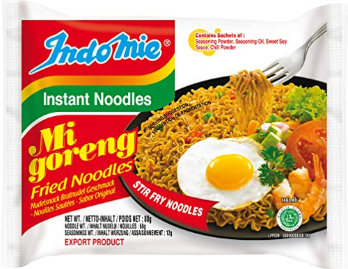 Indomie Mi Goreng Fried Instant Noodles, 80 g (Pack of 40)