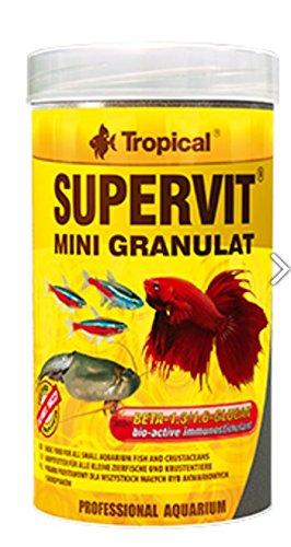 SUPERVIT MINI GRAN 100ml/65g Mini granules multi-ingrédients avec bêta-glucan pour tous les types de poissons tropicaux