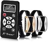 Collier de Dressage Électrique Rechargeable pour 2 Chiens, Étanche IPX6, 2 Modes Automatique & Manuel, 7 Niveaux Ajustables Vibration | Choc Électrique | Son | Sensibilité, Portée 300 à 730 Mètres