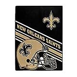 NORTHWEST NFL New Orleans Saints Raschel Throw Blanket, 60' x 80', Slant