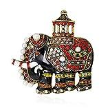 Fliyeong 1 broche de elefante lindo para mujer, collar de ramillete de solapa, bufandas, chal, clip para mujer, bolsa de joyería ornamento para hombres, regalo elegante y popular