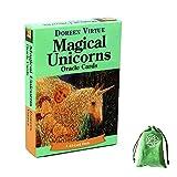 Tarjetas de Oracle Magical Unicorns con Bolsa de Terciopelo,Magical Unicorns Oracle Cards