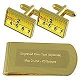 Select Gifts Builder Flessometro Gold-tone gemelli denaro inciso Clip Set regalo