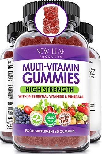 Multivitamin Gummies High Strength for Men Women - Vegetarian +14 Essential Vitamins & Minerals - Gluten Free, Non-GMO Multi Vitamins Chewable Adults Vitamin C A D E B12 B6 & Biotin, Zinc & Iodine