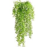 N-A SRunDe 2 Stück Künstliche Pflanzen Kunststoff-Hängepflanzen 32 Zoll Kunstpflanze Hängend Plastikpflanzen Kunstpflanzen Farn für Home Hochzeit Garten Outdoor Wall Decor