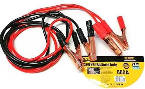 Herran Cavi per Batteria Auto 800AMP -3.5 Mt, Cavi di Avviamento per Batteria, Cavi di Collegamento 3,5 Metri