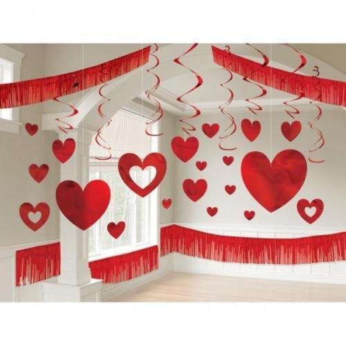 Amscan International Kit de décoration Aluminium Rouge Géant Valentines Day