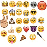 Trimming Shop 27 stücke Emoji Gesichter Selfie Photo Booth Lustige Maske Requisiten Hochzeit, Geburtstagsfeier, Kinder Party Favor...