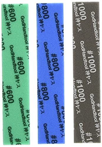 ゴッドハンド(GodHand) 神ヤス! 5mm厚 3種類セットB [#600/#800/#1000] GH-KS5-A3B