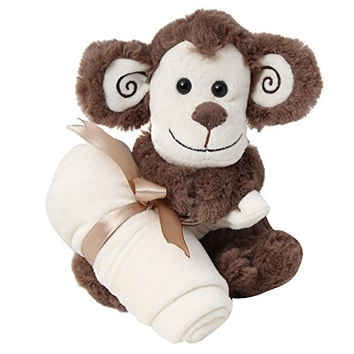 "Monkey Snuggler 8"" Inches Brown Soft Plush Stuffed Animal"
