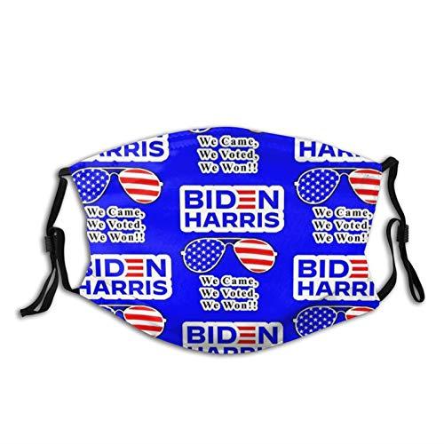 Uliykon Biden-Harris_We Won!_7x9_Half Drop 21 Tuch Gesicht Ma_sk waschbar wiederverwendbar Mund Ma_sk atmungsaktive Abdeckung mit verstellbaren Ohrschlaufen für Schutz