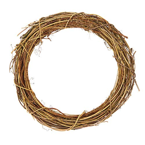 Baker Ross Natural Rattan Wreaths, Perfect for Seasonal Displays, Decorate with Pine Cones, Berries, Pine Branches and More, Eco Friendly Material (Pack of 2)