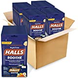 HALLS Soothe Nighttime Honey Chamomile Flavor Cough Drops ,48 Bags (1200 Total Drops)