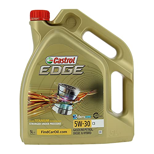 Castrol EDGE - Lubricante con Titanium FST de 5l, con viscosidad 5W-30 y conforme con la especificación C3