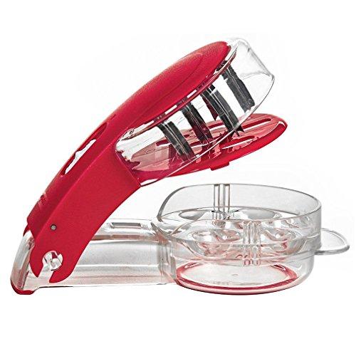 MEETOZ Kitchen Gadget Stainless Steel Zigzag Blades Cherry Pitter - 6 Cherries